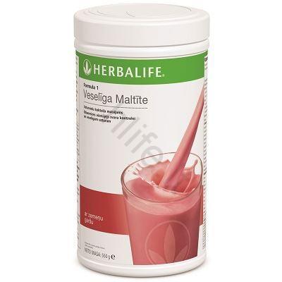 herbalife nutrition braškinis kokteilis